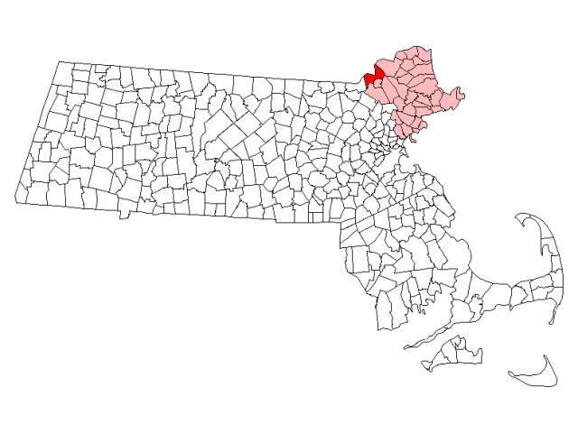 Methuen locator map