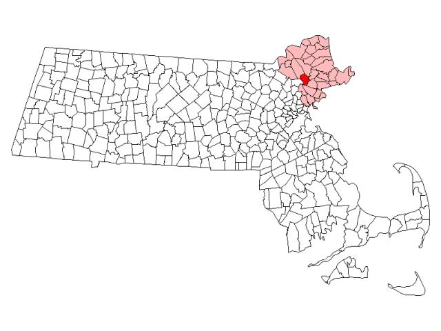 Middleton location map