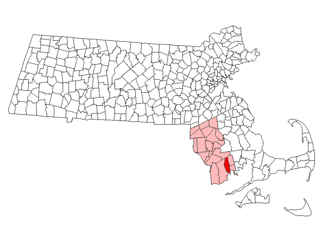 New Bedford locator map