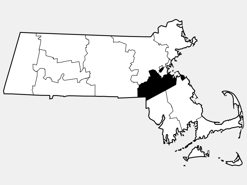 Norfolk County locator map