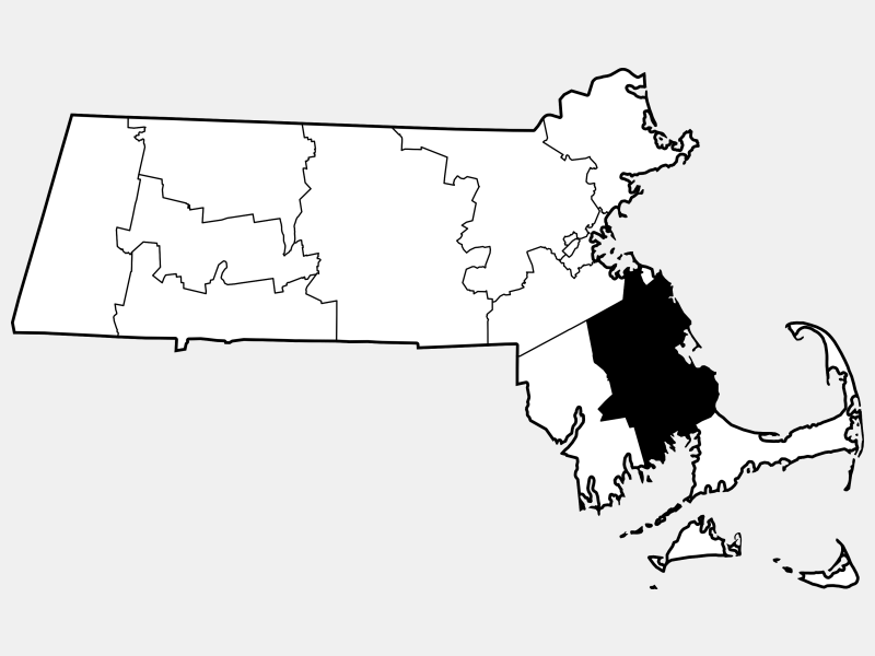 Plymouth County locator map