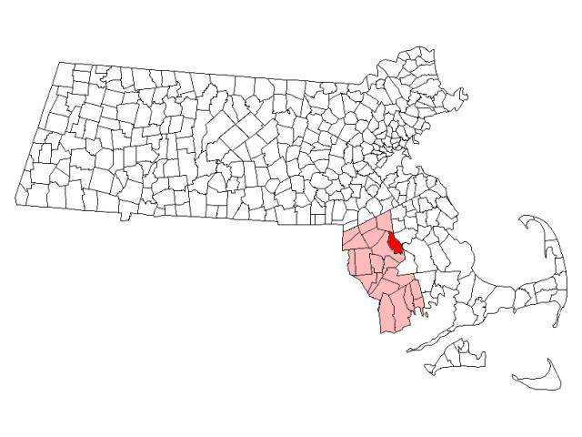 Raynham locator map