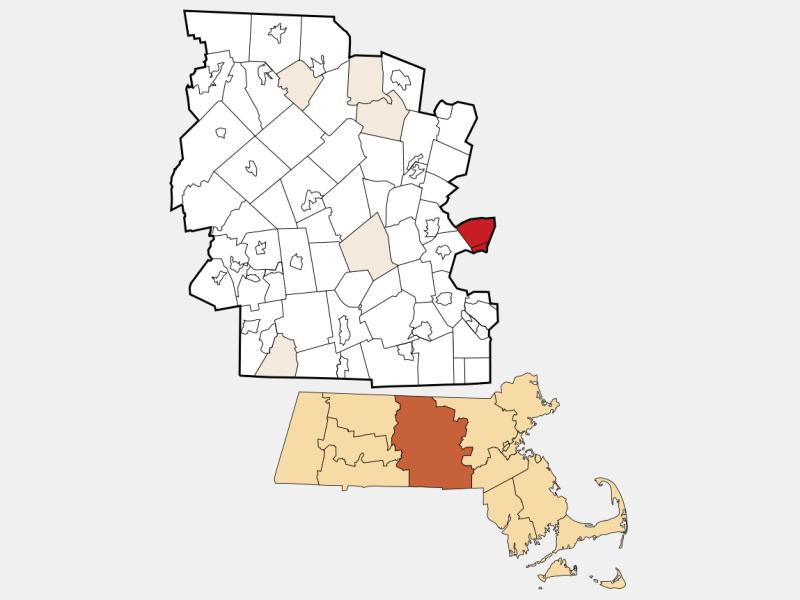 Southborough locator map