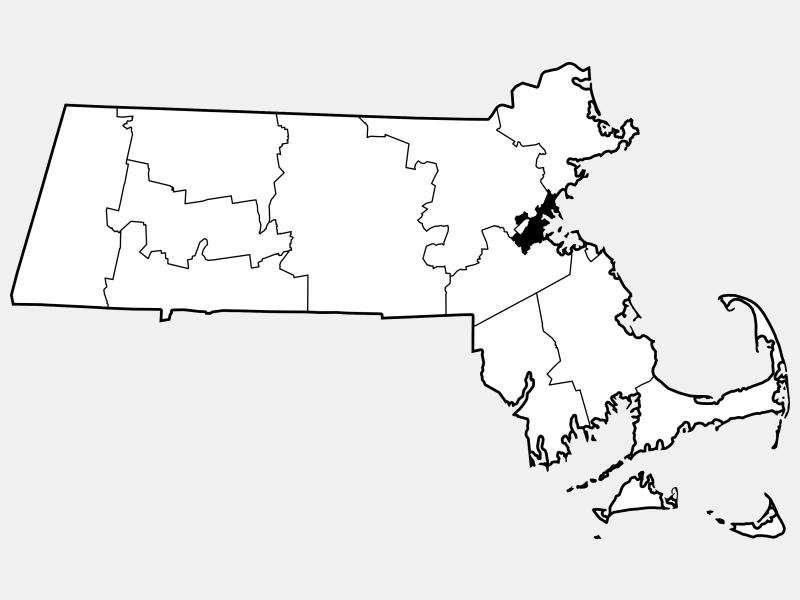 Suffolk County locator map