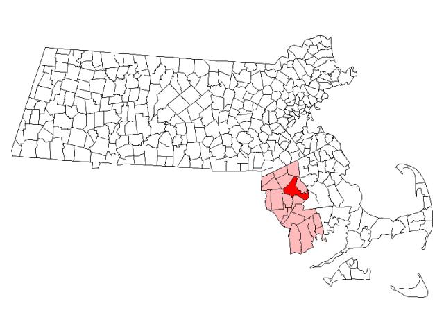 Taunton locator map