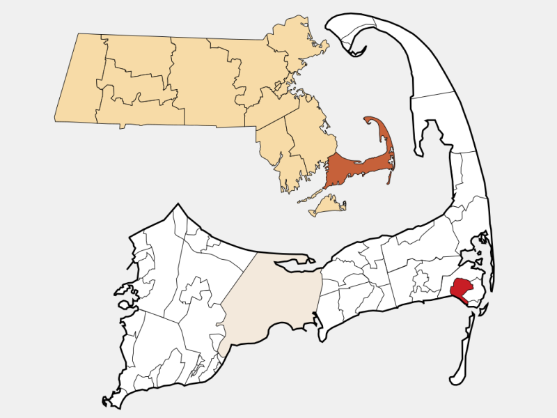 West Chatham location map