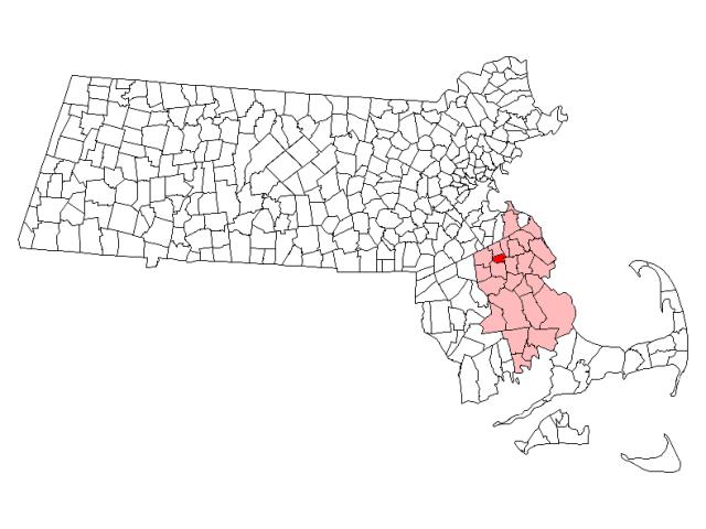 Whitman locator map