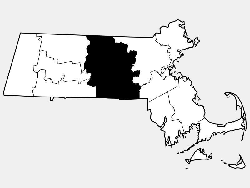 Worcester County locator map