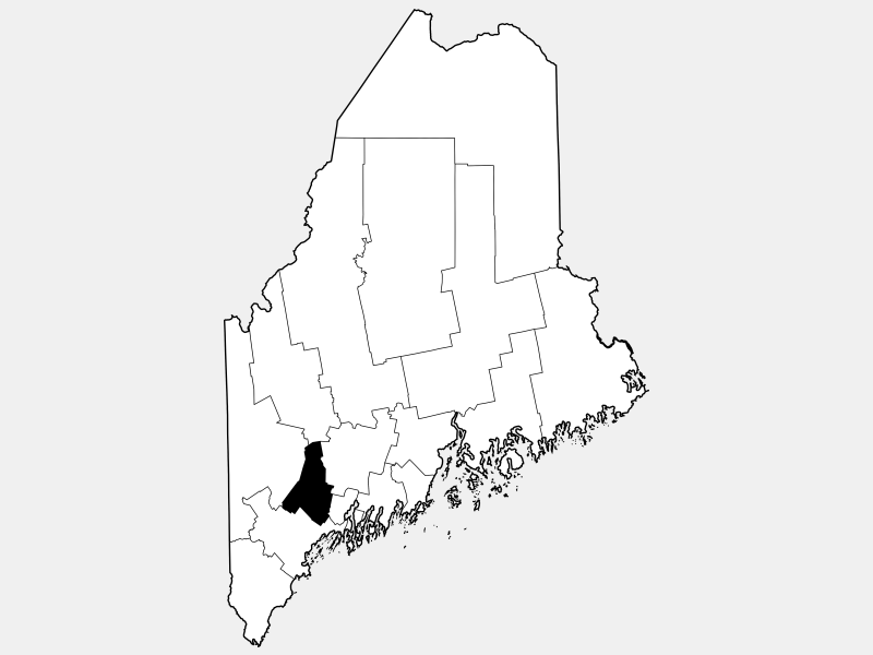 Androscoggin County locator map