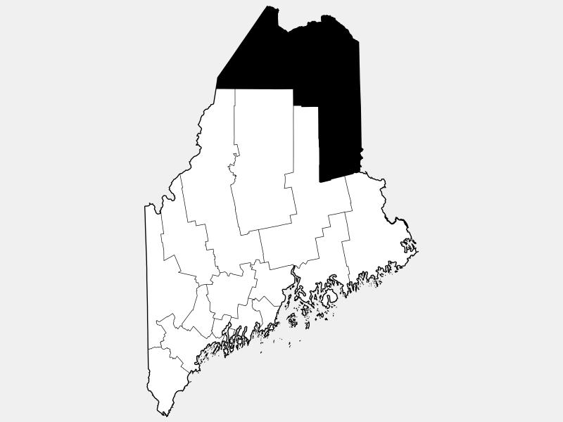 Aroostook County locator map