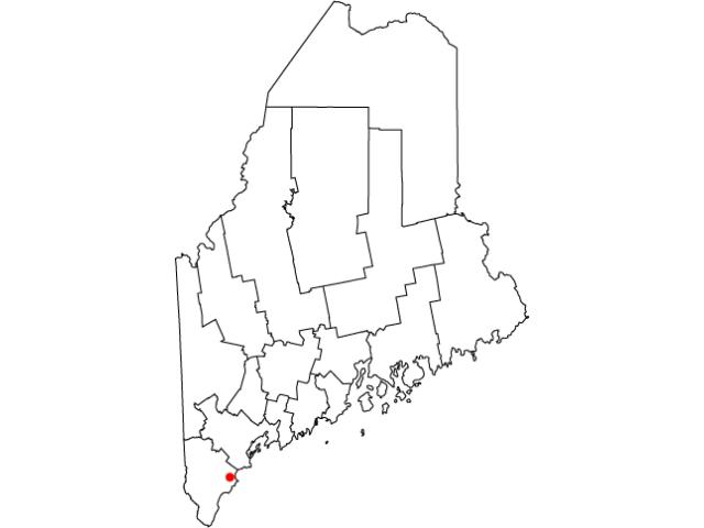 Biddeford locator map