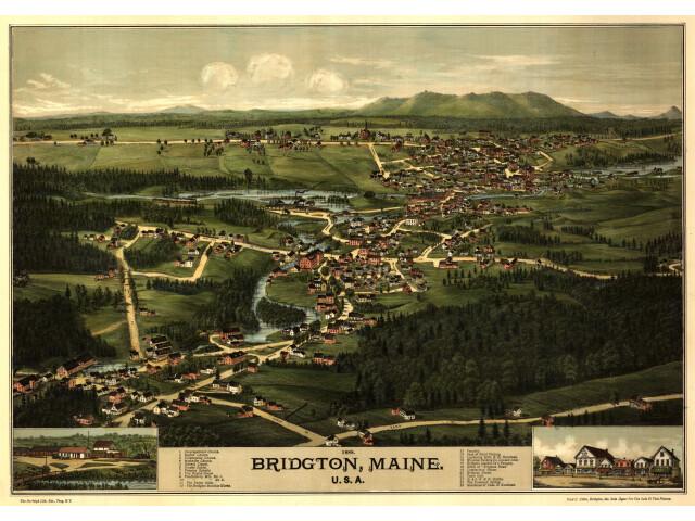 BridgtonMaineBirdsEye1888 image