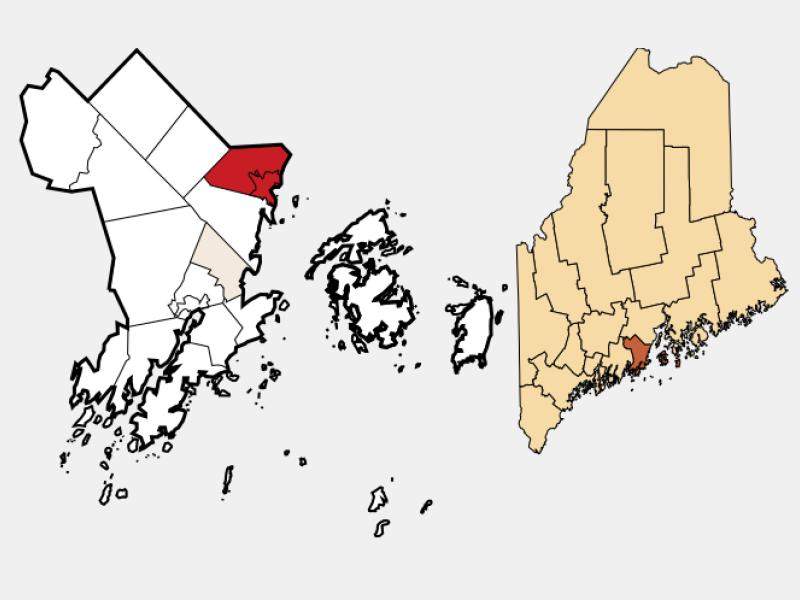 Camden locator map