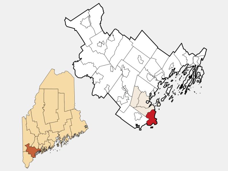 Cape Elizabeth locator map