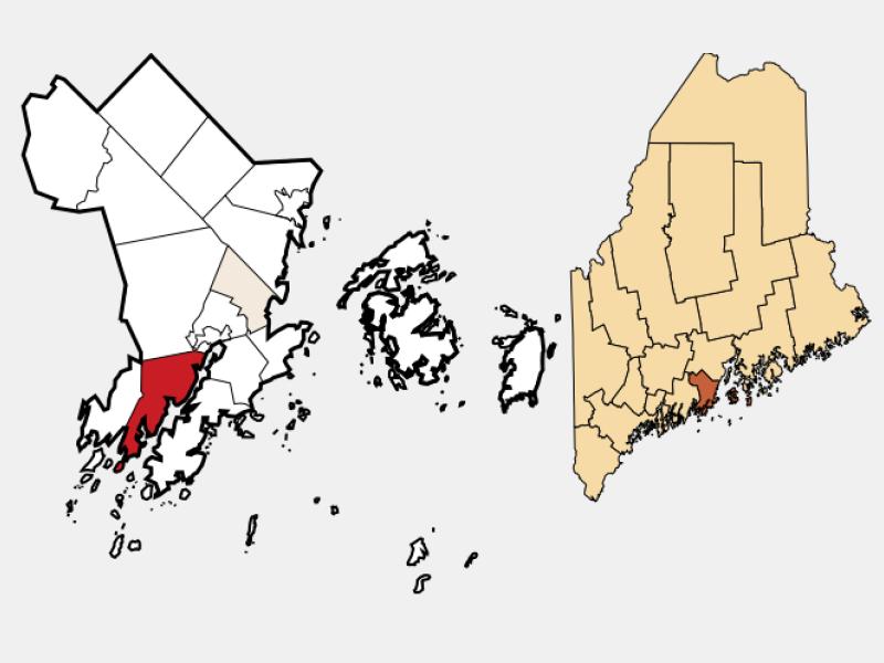 Cushing locator map