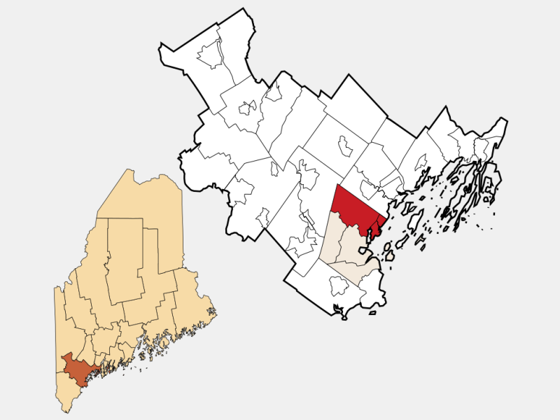 Falmouth locator map