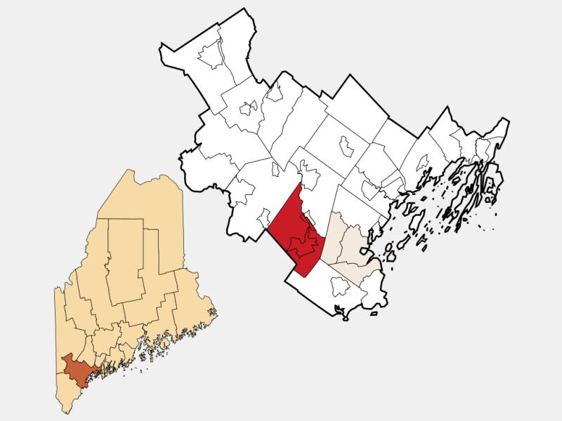 Gorham locator map