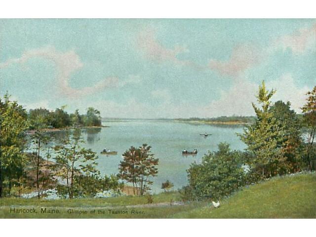 Glimpse of the Taunton River  Hancock  ME image