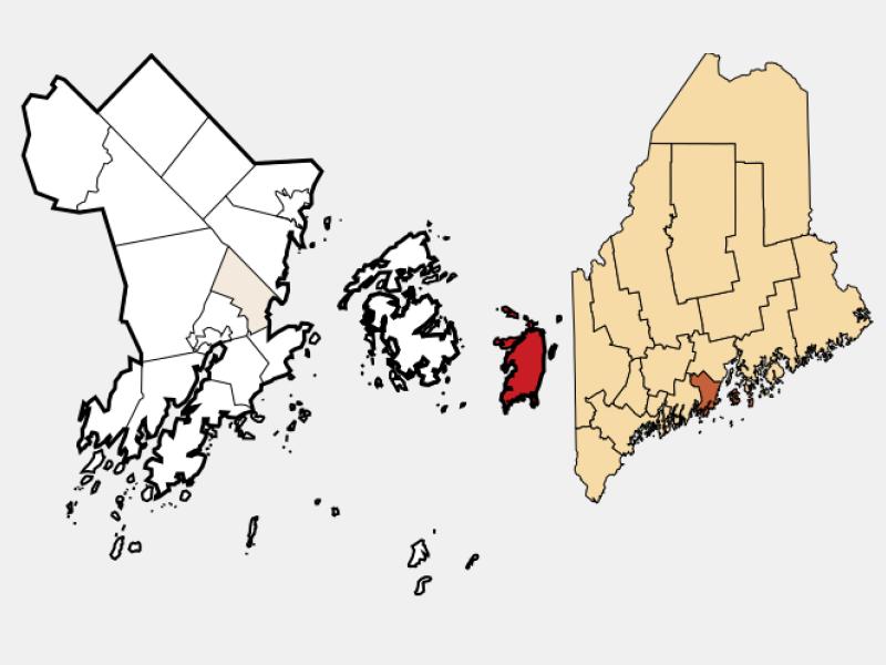 Isle Au Haut locator map