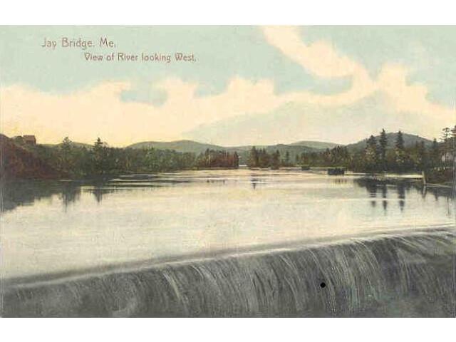 View of River Looking West  Jay Bridge  ME image