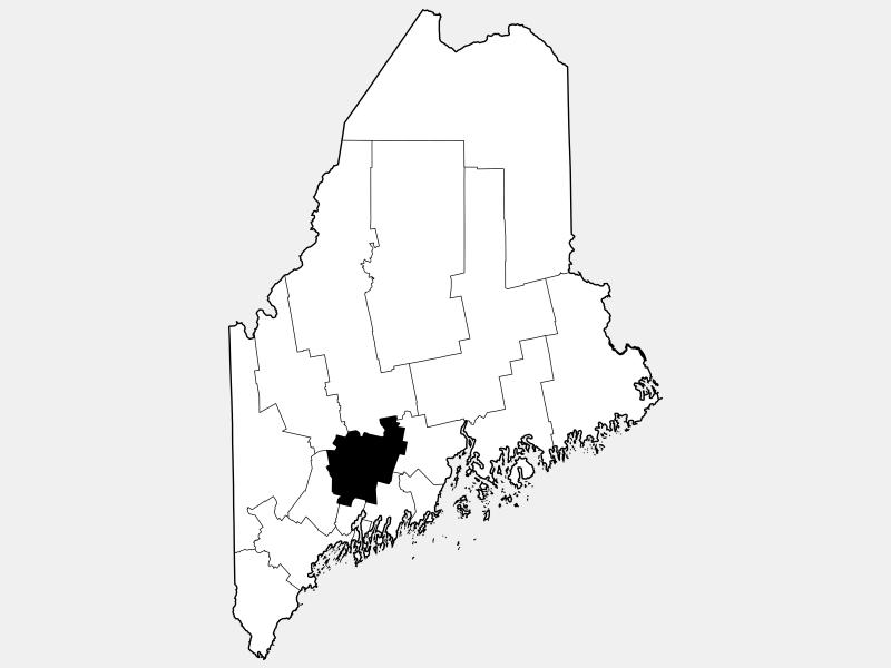 Kennebec County locator map