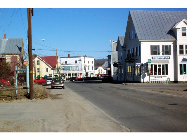 Maine State Routes 16 and 27 in downtown Kingfield image