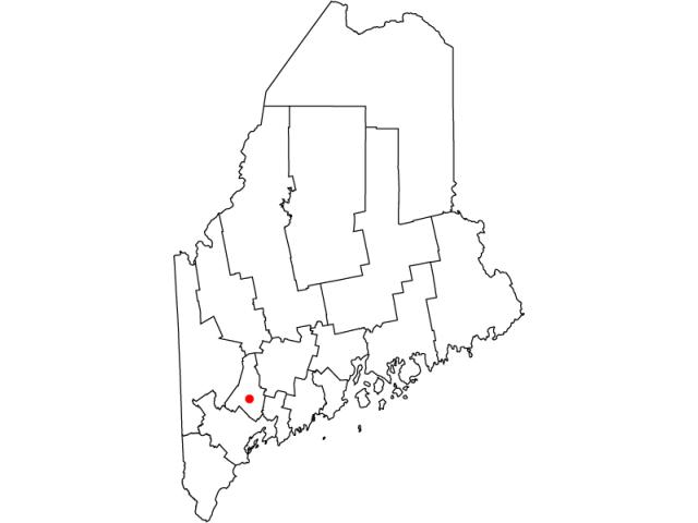 Lewiston locator map
