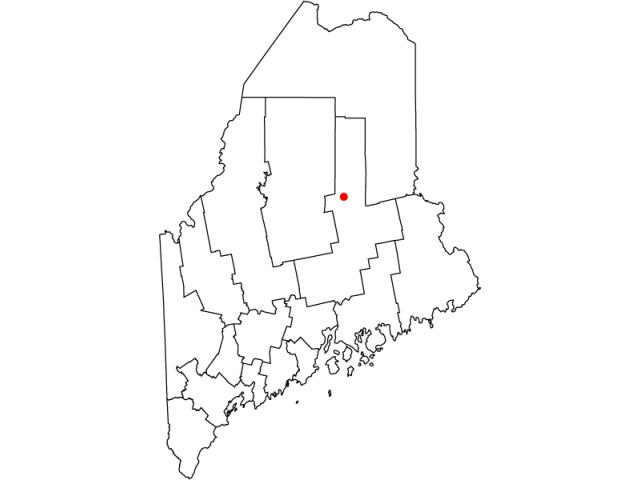 Millinocket locator map