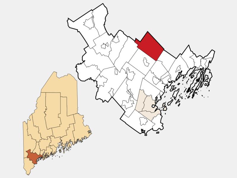 New Gloucester locator map