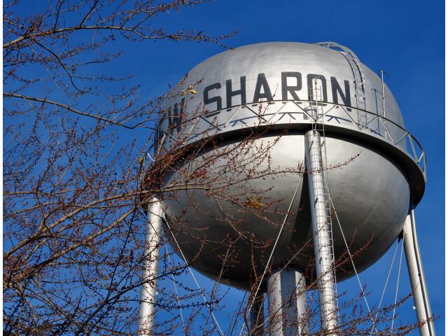 New Sharon water tower image