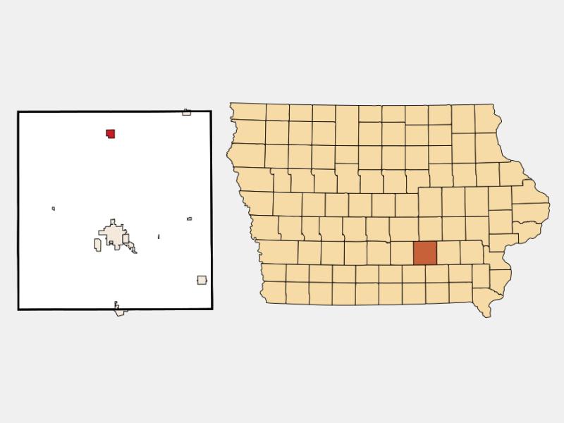 New Sharon locator map