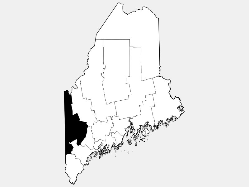 Oxford County locator map