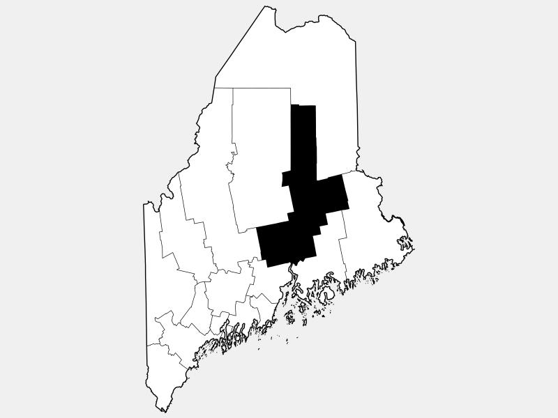 Penobscot County locator map