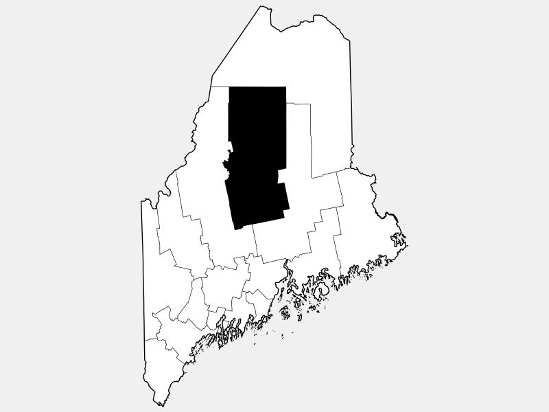 Piscataquis County locator map
