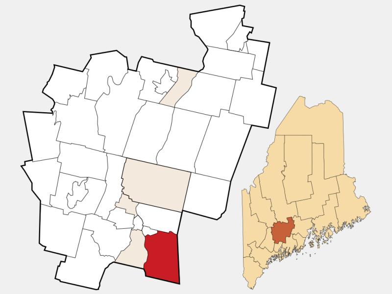 Pittston locator map