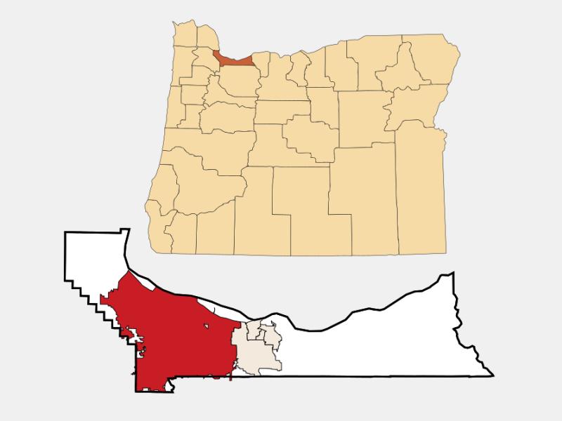 City of Portland locator map