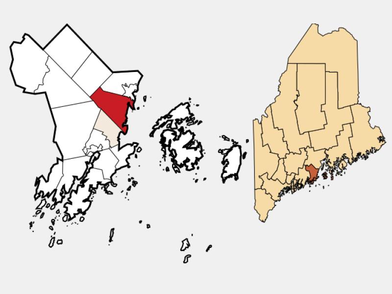 Rockport locator map