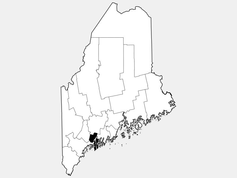 Sagadahoc County locator map