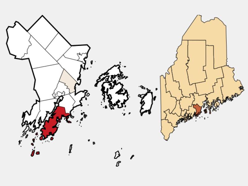 Saint George locator map