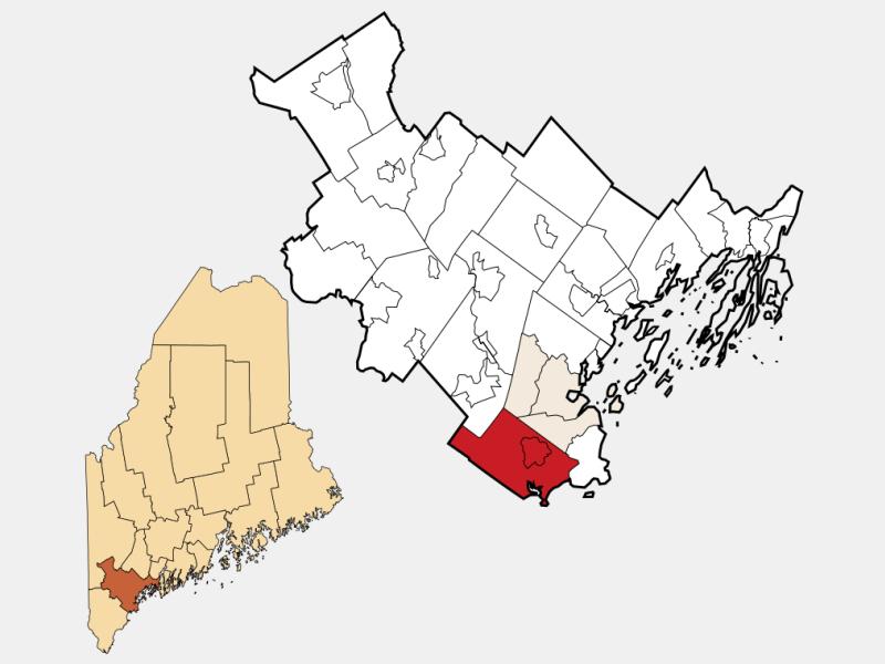Scarborough locator map