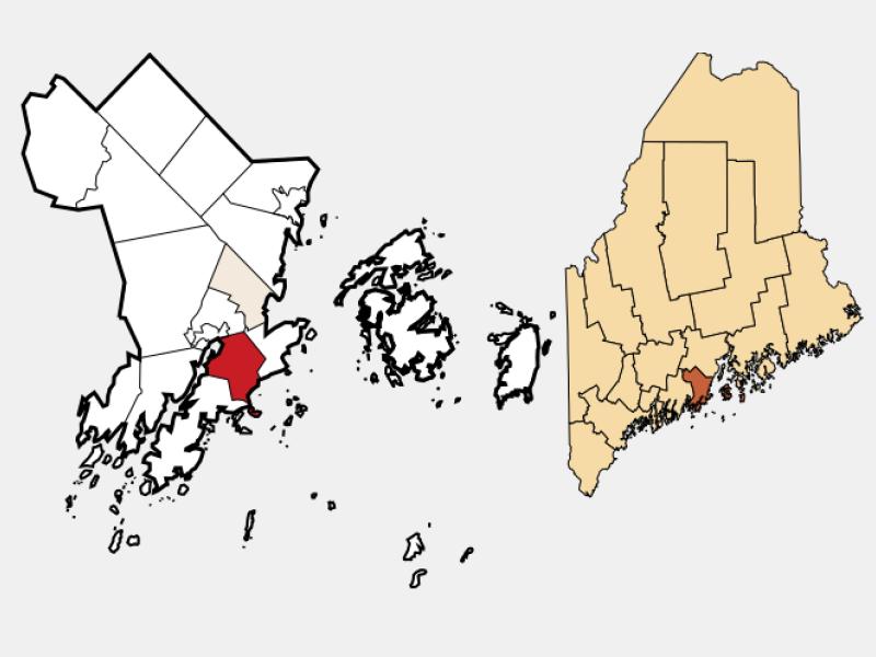 South Thomaston locator map