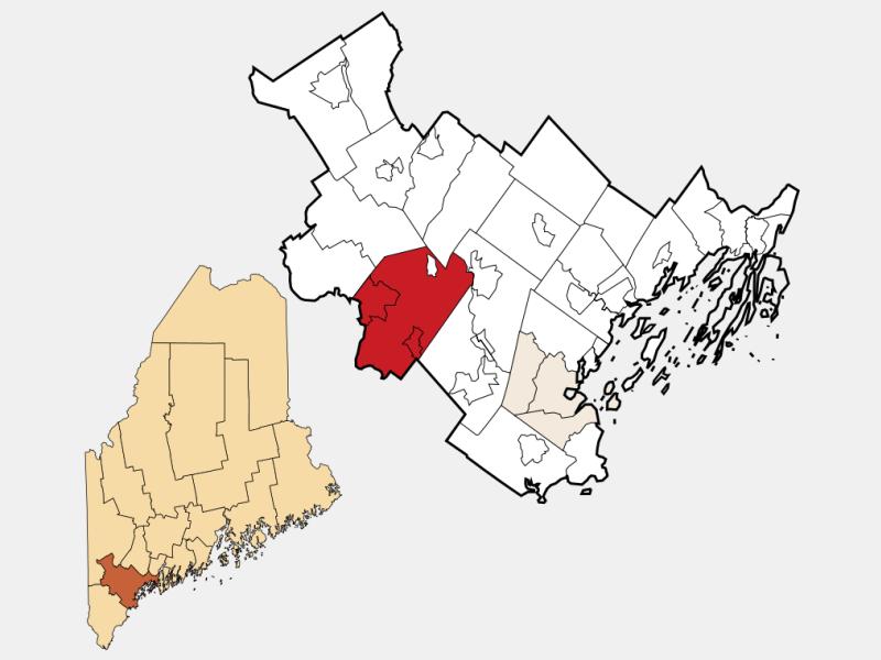 Standish locator map