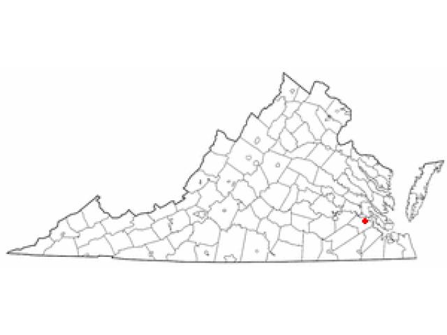 Surry locator map