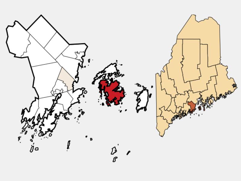 Vinalhaven locator map
