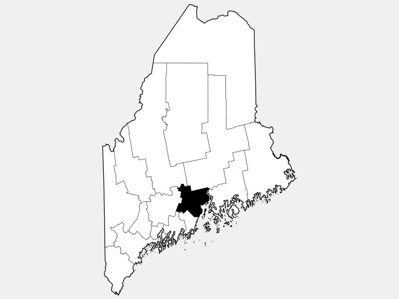 Waldo County locator map