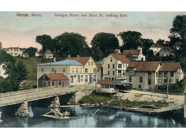 St. George River and Main Street  Warren  Maine image