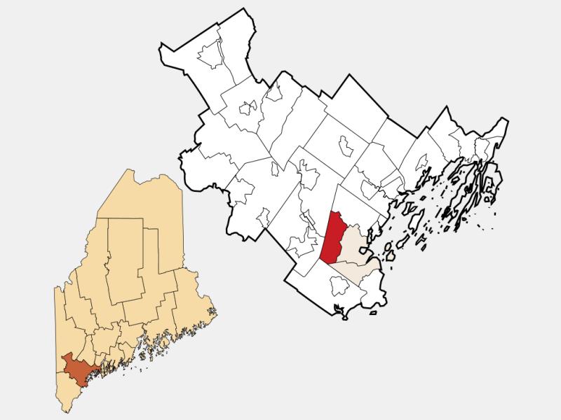 Westbrook locator map