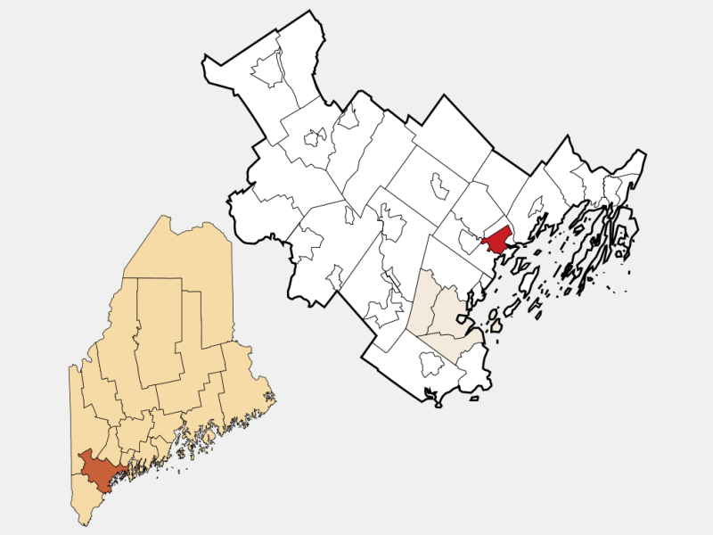 Yarmouth locator map