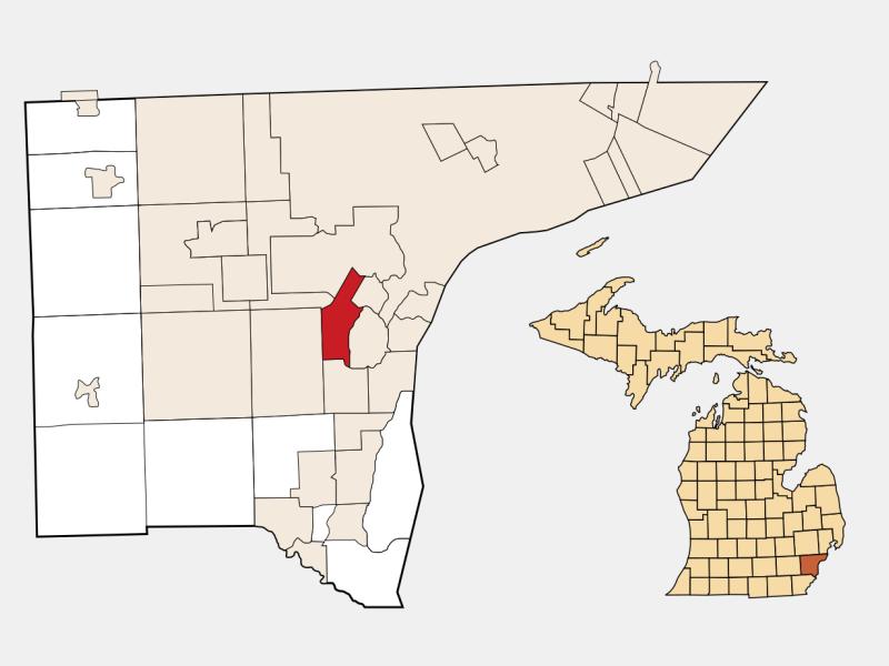 Allen Park locator map
