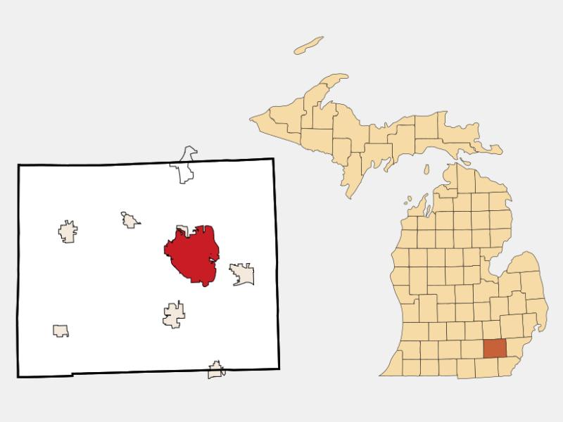 Ann Arbor locator map
